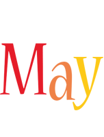 May birthday logo