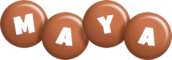 Maya candy-brown logo