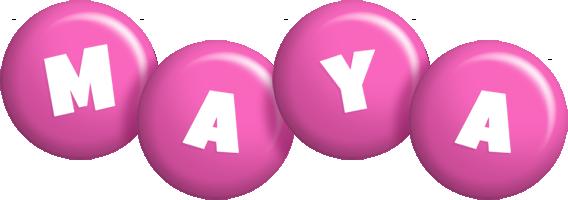 Maya candy-pink logo