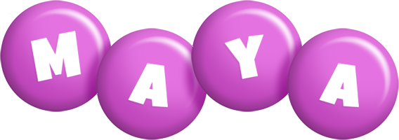 Maya candy-purple logo