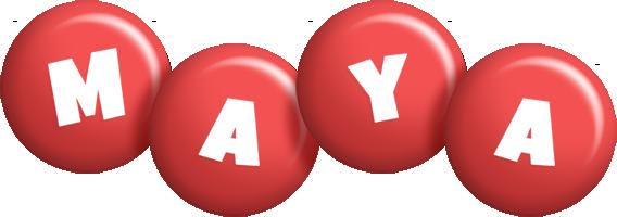 Maya candy-red logo