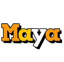 Maya cartoon logo