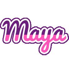 Maya cheerful logo