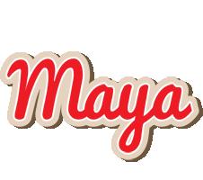Maya chocolate logo