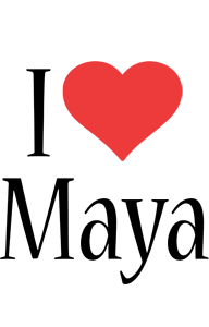 Maya i-love logo