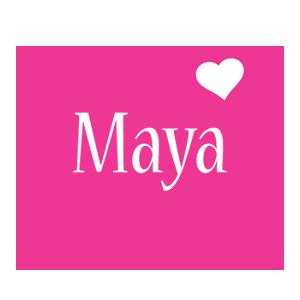 Maya love-heart logo