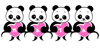 Maya love-panda logo