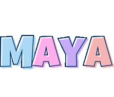 Maya pastel logo