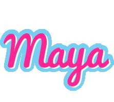 Maya popstar logo
