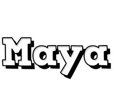 Maya snowing logo