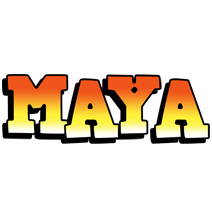 Maya sunset logo