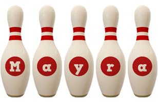 Mayra bowling-pin logo