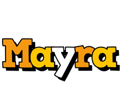Mayra cartoon logo