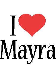 Mayra i-love logo