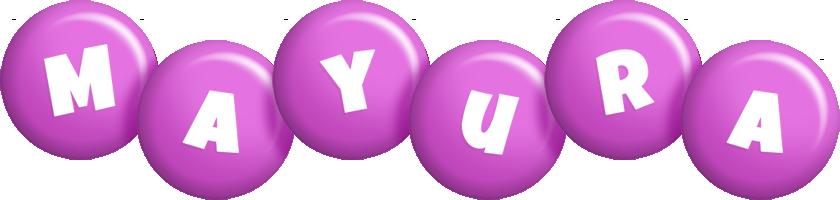 Mayura candy-purple logo