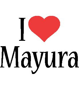 Mayura i-love logo