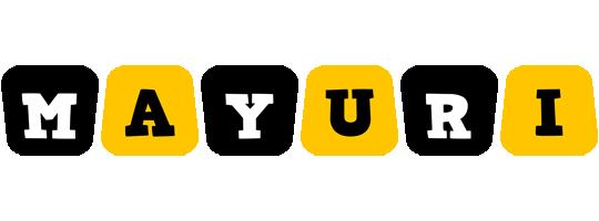 Mayuri boots logo