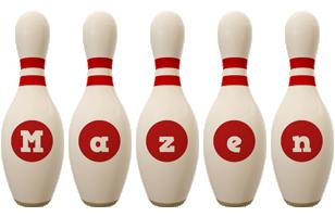Mazen bowling-pin logo