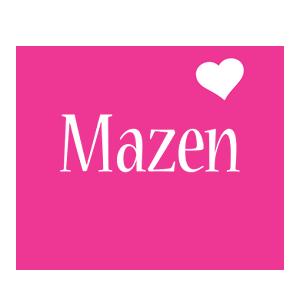 Mazen love-heart logo