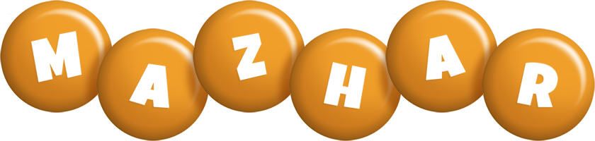 Mazhar candy-orange logo