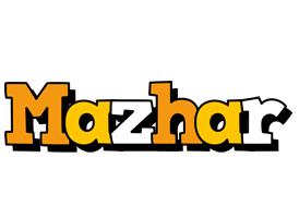 Mazhar cartoon logo