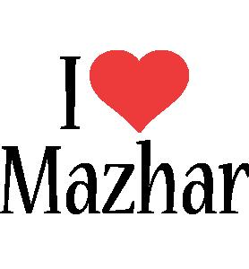 Mazhar i-love logo