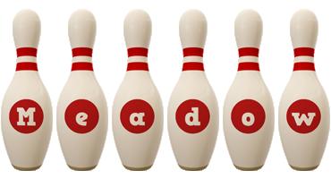 Meadow bowling-pin logo