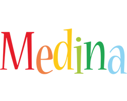Medina birthday logo