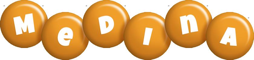 Medina candy-orange logo