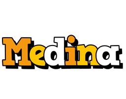 Medina cartoon logo