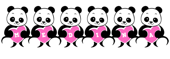 Medina love-panda logo
