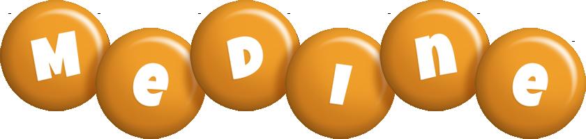 Medine candy-orange logo