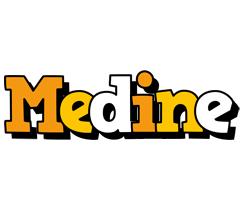 Medine cartoon logo