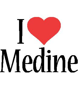 Medine i-love logo