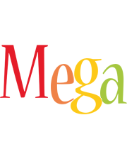 Mega birthday logo