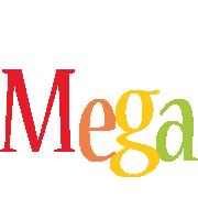 Mega birthday logo