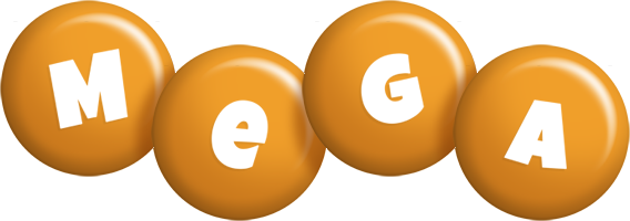 Mega candy-orange logo