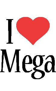 Mega i-love logo