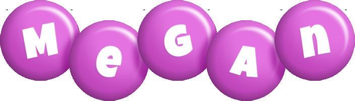 Megan candy-purple logo