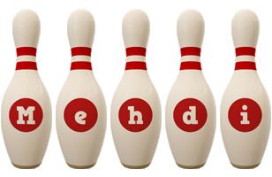 Mehdi bowling-pin logo