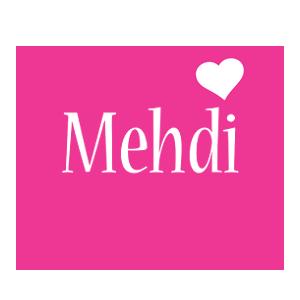 Mehdi love-heart logo