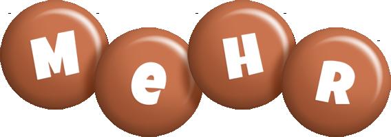 Mehr candy-brown logo