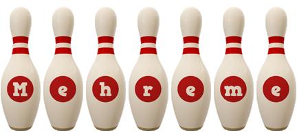 Mehreme bowling-pin logo