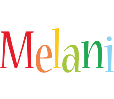 Melani birthday logo