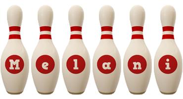 Melani bowling-pin logo