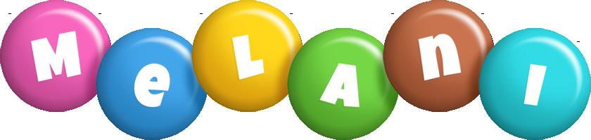 Melani candy logo