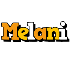 Melani cartoon logo