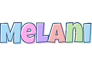 Melani pastel logo