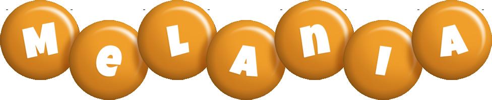 Melania candy-orange logo