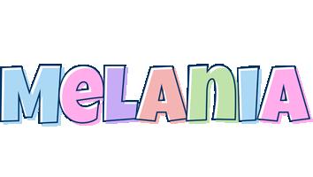 Melania pastel logo